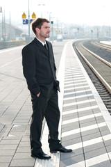 man on business trip