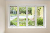 Window with view of summer backyard - 73538912