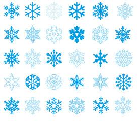 Blaue Schneeflocken