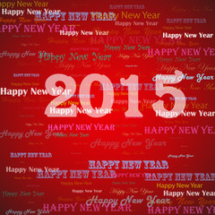 Happy New Year 2015 stylish background. Vector illustration