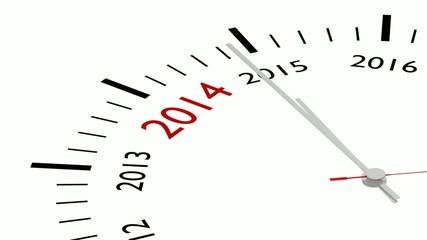 The new year 2015 in a clock