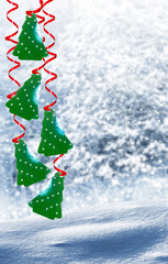 winter landscape. Christmas tree