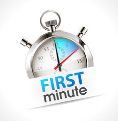 Stopwatch - first minute
