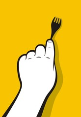 Fork hand