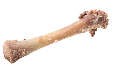 Bone chicken on a white background