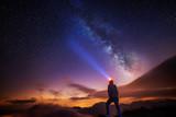 Fototapety light under the Milky Way