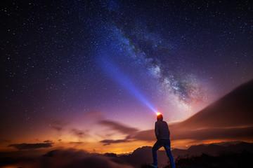 light under the Milky Way