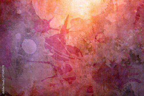 Leinwandbild Motiv grunge background with splatters,