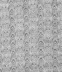 background of gray knitted fabrics. texture