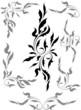 Set of seven floral decors
