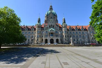 Neues Rathaus Hannover, Vorderseite, Niedersachsen, Politik