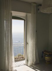 Window facing the sea