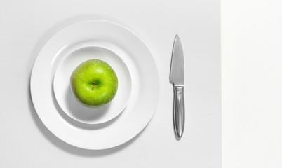 grüner Apfel monochrom