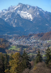 Berchtesgaden with mountain in the background