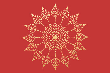golden thai style pattern