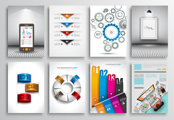Set of Flyer Design,Brochure Designs, Infographics  Backgrounds