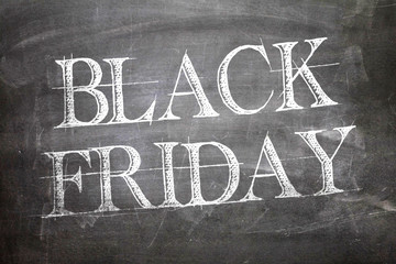 Black Friday written on blackboard