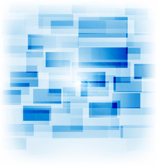 Abstract creative background with transparent squares