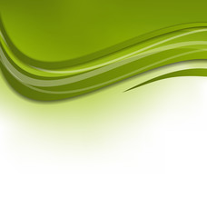 Green wawy background, design template