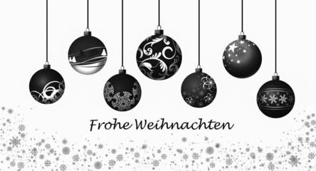 Weihnachtskugeln / schwarz