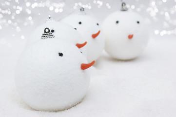 Snowmen Christmas baubles