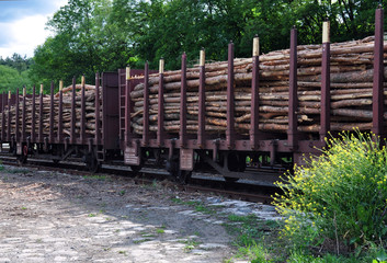 wagons with wood