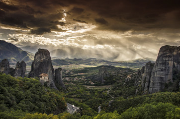 The Meteora complex in Greece