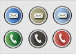 Message and call icons