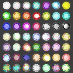 Set of gems. Diamond set