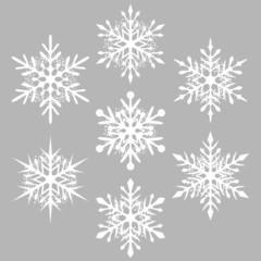 white snowflake silhouettes