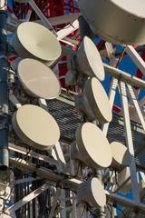 Parabolic Antennas in Telecommunication Tower