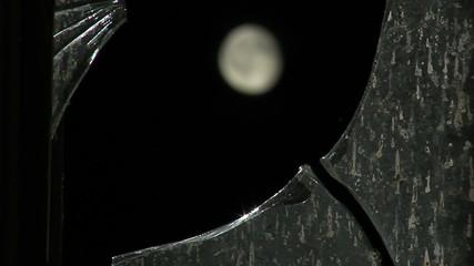 Moon and broken glass