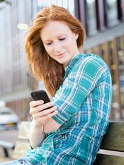 Urban Communication - Woman Texting