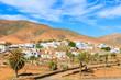 View of mountains and Pajara village, Fuerteventura island