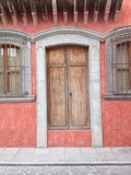 Mexican architectural extrrior detail poster