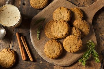 Homemade Brown Gingersnap Cookies