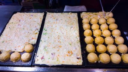 Takoyaki making