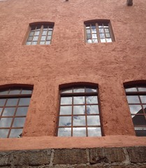 building facade with arched windows