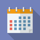 Icon of Calendar. Flat style. poster