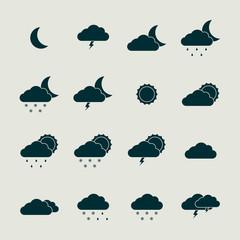 Weather icon set.