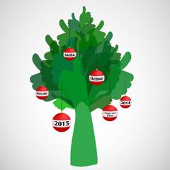 thumb up tree Christmas
