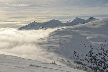 Mountain landscape in Austrian Alps