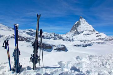 Skis and the Matterhorn