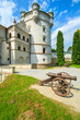 Beautiful Krasiczyn castle tower on sunny summer day, Poland