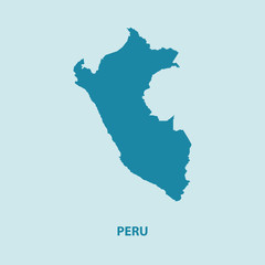 Peru Map Vector Very Detailed