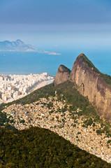 Scenic View of Rio de Janeiro Mountains and Urban Areas