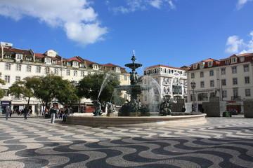 Fontaine - Place Don Pedro IV, Lisbonne, Portugal