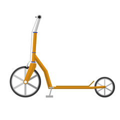Flat illustration of electrical scooter