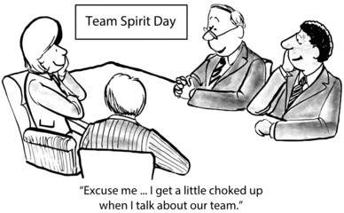 "Team Spirit Day:  ""...I get a little choked up when I talk..."""