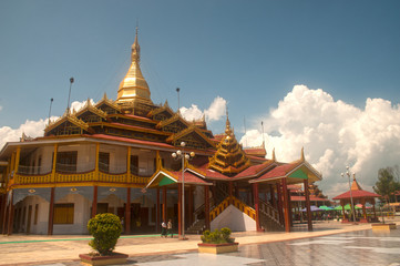 Hpaung Daw U Pagoda is the famous Temple in Inle lake.